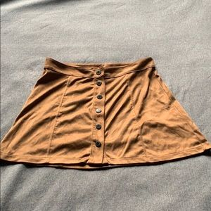 Brown Suede American Eagle Skirt